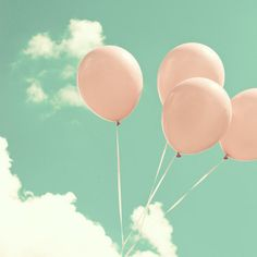 4 pink balloons